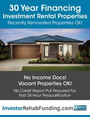 30 Year Rental Property Financing – Refi Cash Out Up To $2, 000, 000 –